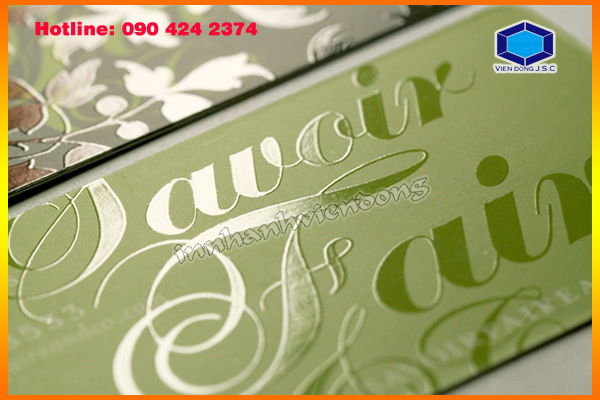 Cheap Printing Spot Gloss Business Card | In danh thiếp nhanh nhất | In the, in the nhua, in the nhan vien, in the nhan vien, in the gia re tai Ha Noi