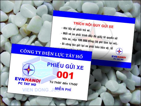 Công ty in thẻ vé xe thiết kế miễn phí tại Hà Nội